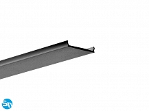Osłonka do profilu LED LIGER 22mm czarna - 1m