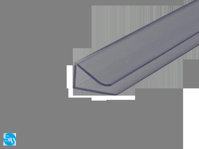 Profil Plastikowy Klips Do Półek Szklanych Przezroczysty 1m